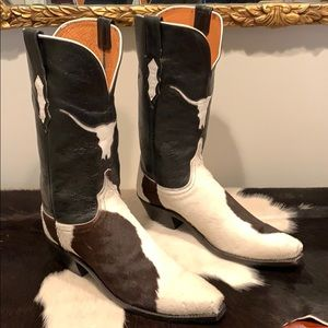 Lucchese Shoes - LUCCHESE RARE Longhorn Pony Cowhide Calf Hair Boot